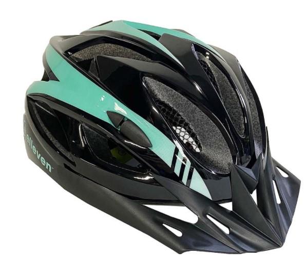 Capacete Ciclismo Elleven Preto/Verde  - REAL ESPORTE