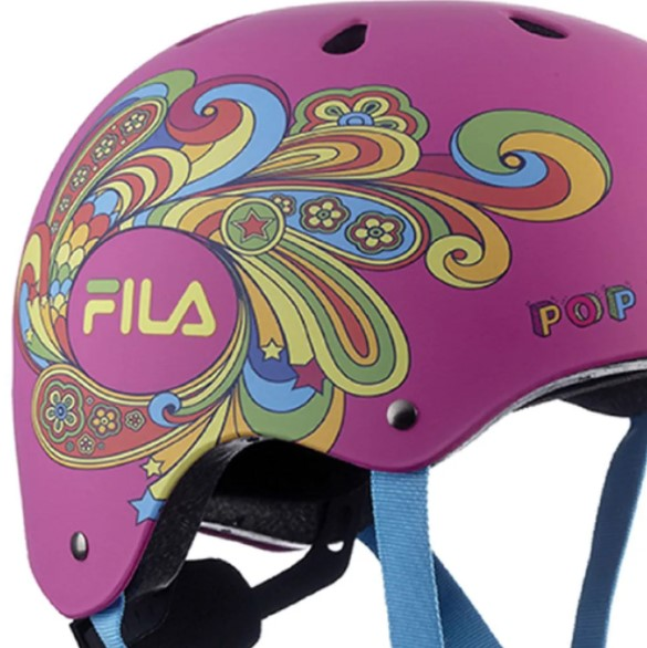 Capacete Fila Bella Helmet - Rosa  - REAL ESPORTE