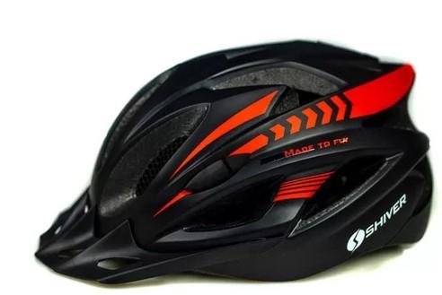 Capacete Shiver Bike Mtb - Preto/Vermelho  - REAL ESPORTE