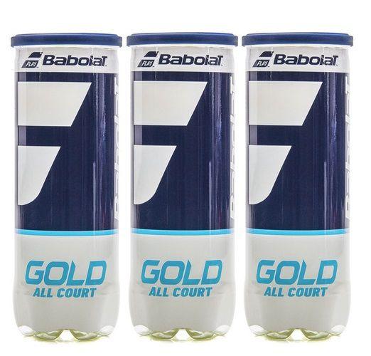 Bola de Tênis Babolat Gold C/ 3 tubos   - REAL ESPORTE