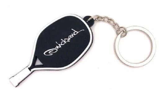 Chaveiro Quicksand Raquete Tarja Beach Tennis - Branco  - REAL ESPORTE