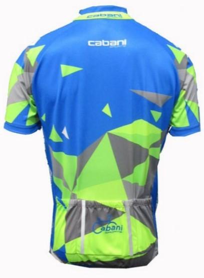Camisa de Ciclismo Cabani Aritima - Azul/Verde (Manga Curta)   - REAL ESPORTE