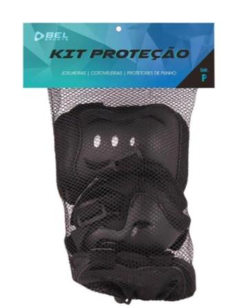 Kit Proteção Bel Sports Infantil - Preto  - REAL ESPORTE