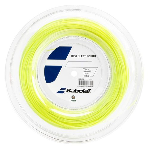 Corda Babolat RPM Blast Rough 1.25 17 Rolo 200 Metros - Amarela   - REAL ESPORTE