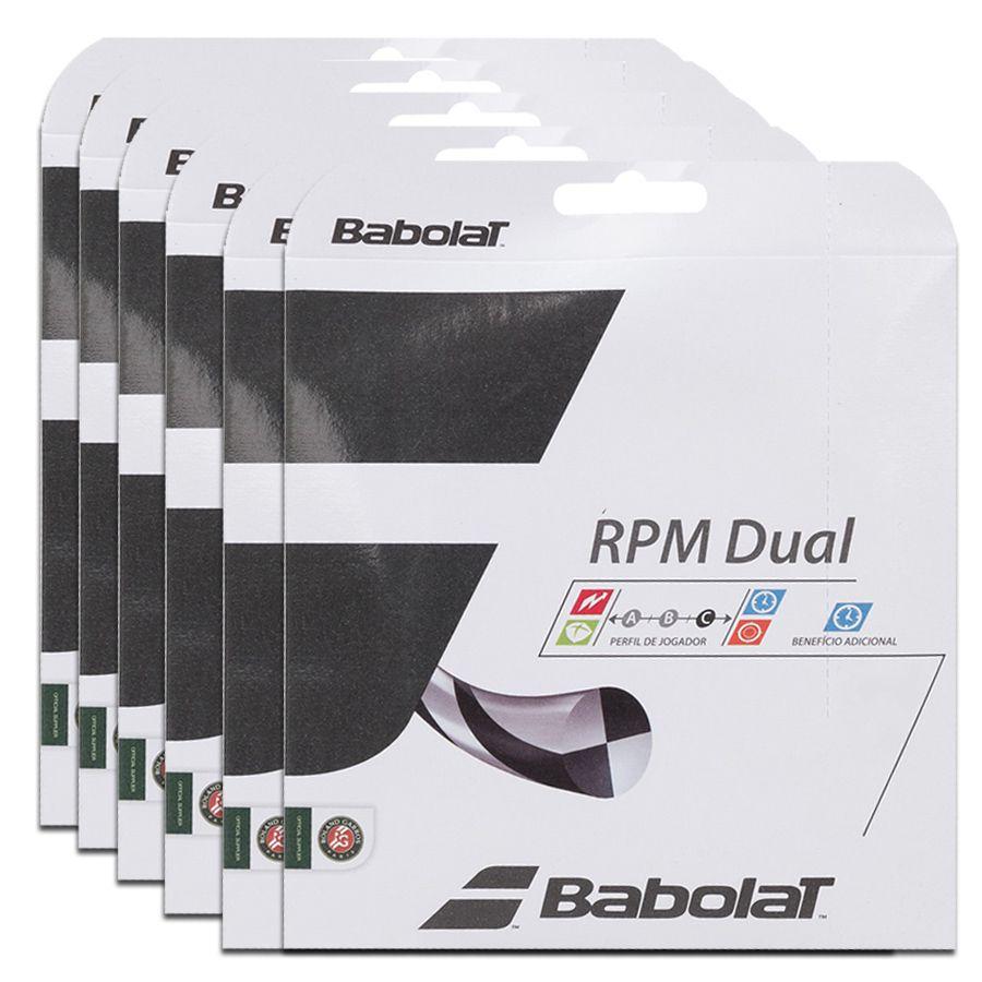 Corda Babolat Rpm Dual 16 1.30mm 11.75m - Pack C/ 6 Sets  - REAL ESPORTE