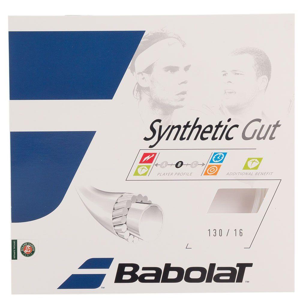 Corda Babolat Synthetic Gut 16 1.30 mm 11,75m Natural - Set Individual  - REAL ESPORTE