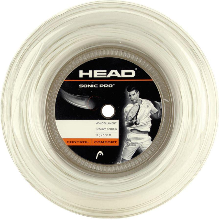 Corda Head Sonic Pro 125 17 Rolo 200 Metros - Branca  - REAL ESPORTE