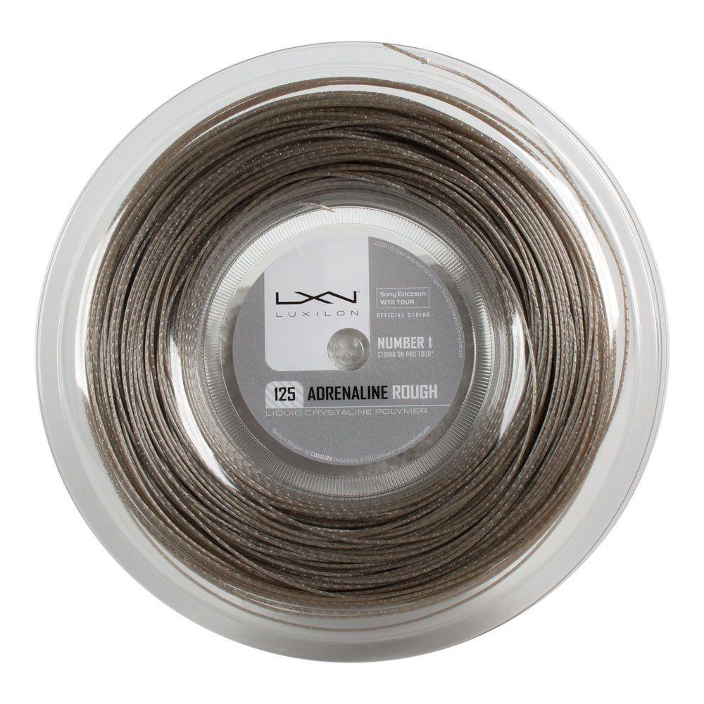 Corda Luxilon Adrenaline 1.25mm Rough Cinza - Rolo com 200 Metros  - REAL ESPORTE