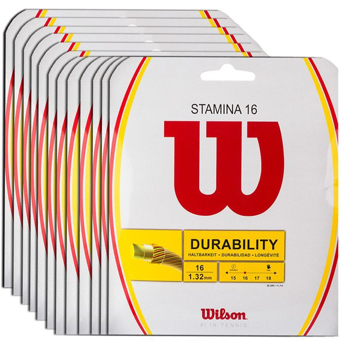 Corda Wilson Stamine 16L 1.30mm 12m - Pack C/ 12 Sets  - REAL ESPORTE