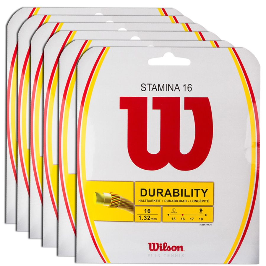 Corda Wilson Stamine 16L 1.30mm 12m - Pack C/ 6 Sets  - REAL ESPORTE