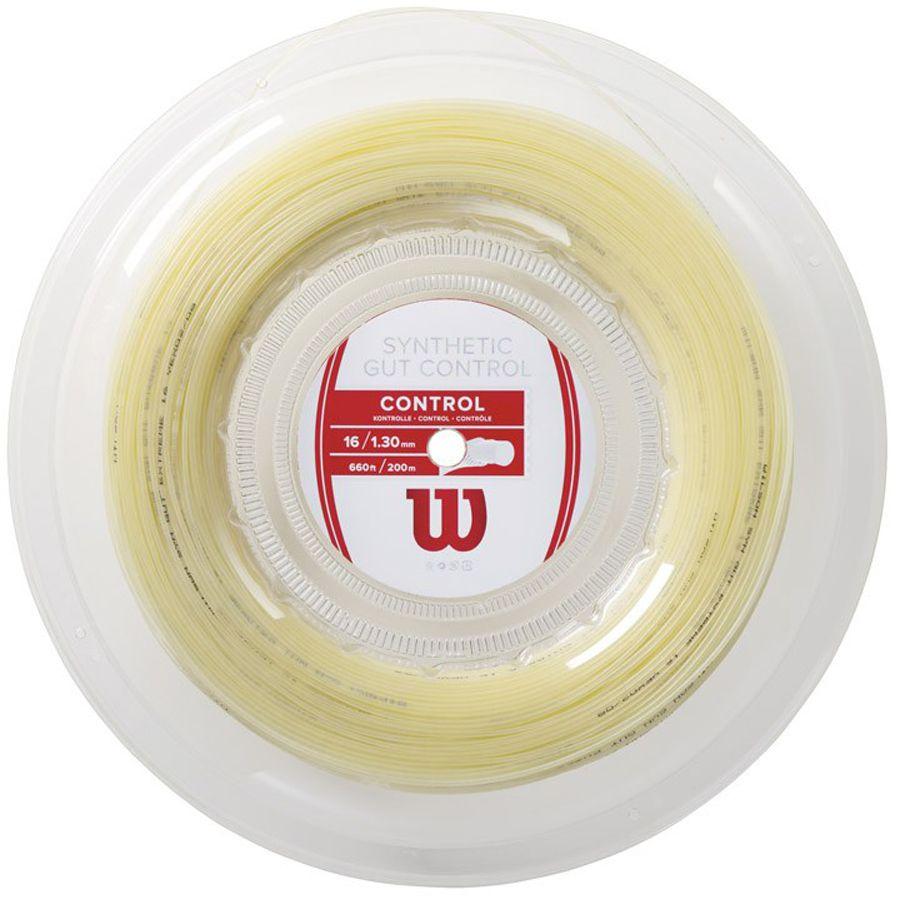 Corda Wilson Synthetic Gut Control 130 16 Rolo 200 Metros - Natural   - REAL ESPORTE