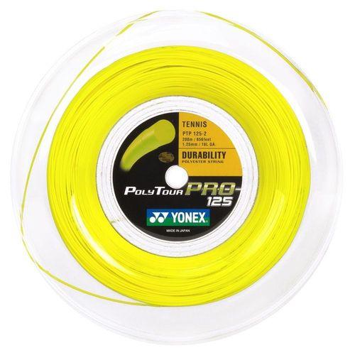Corda Yonex Poly Tour Pro 16L 1.25mm Amarelo - Rolo com 200 Metros   - REAL ESPORTE