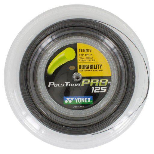Corda Yonex Poly Tour Pro 125 16 Rolo 200 Metros - Preta  - REAL ESPORTE