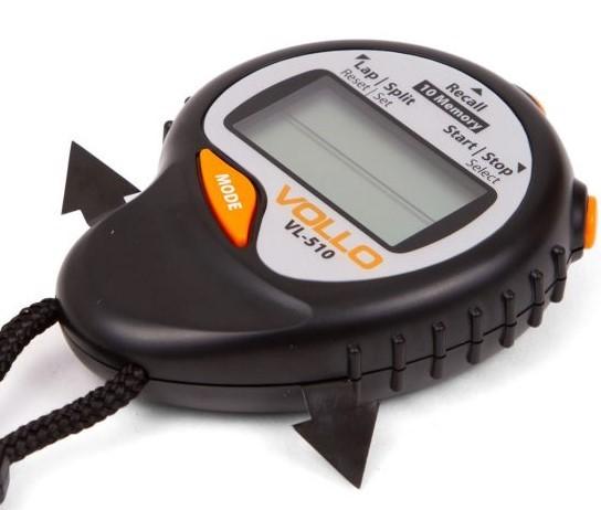 Cronomêtro Stopwatch VL- 510 Com 10 Memórias Vollo  - REAL ESPORTE