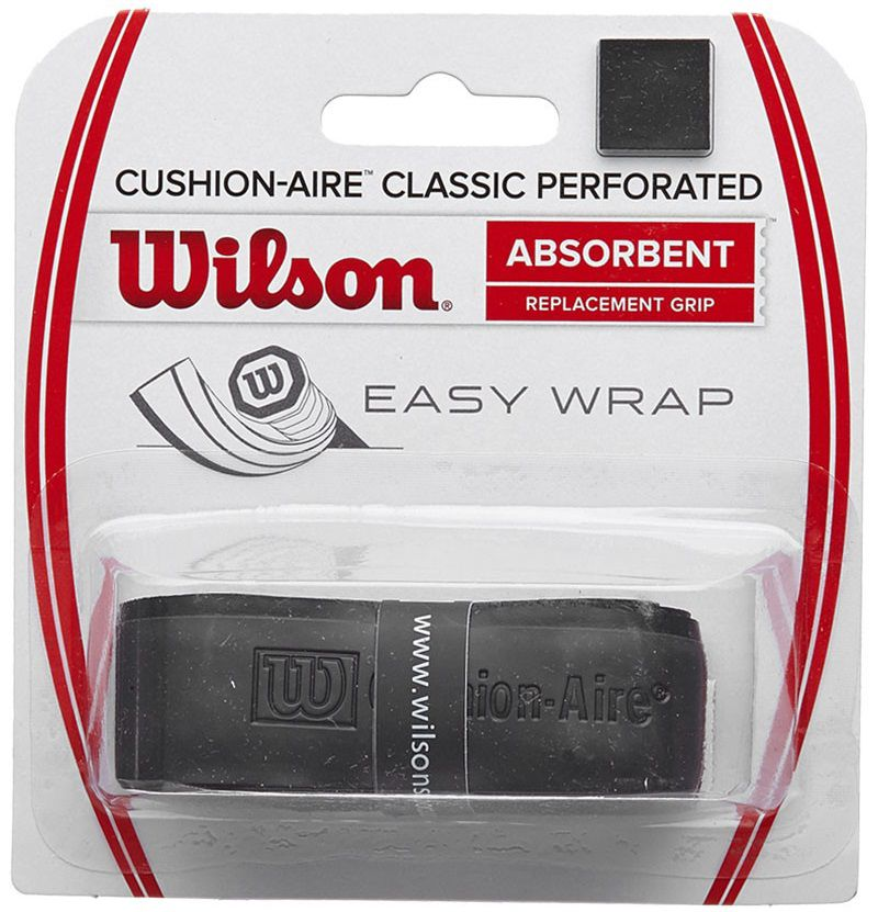 Cushion Grip Wilson Classic Perforated - Preto  - REAL ESPORTE