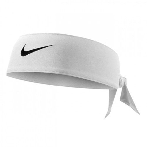 Bandana Nike Dry Fit Head Tie - Branco  - REAL ESPORTE