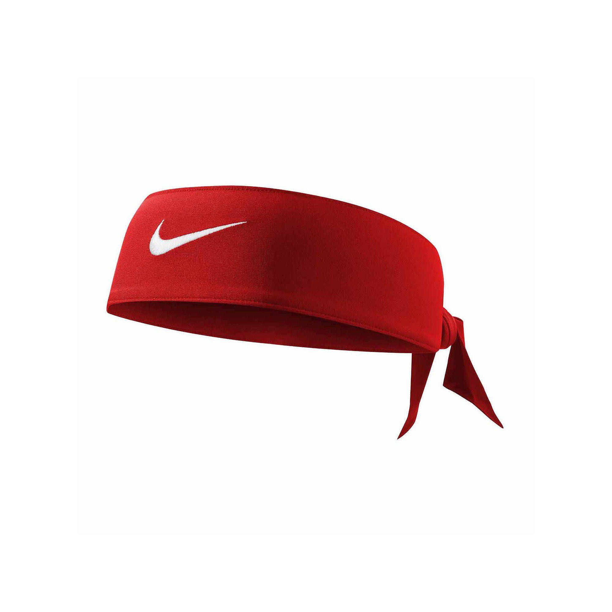 Bandana Nike Dry Fit Head Tie - Vermelho  - REAL ESPORTE