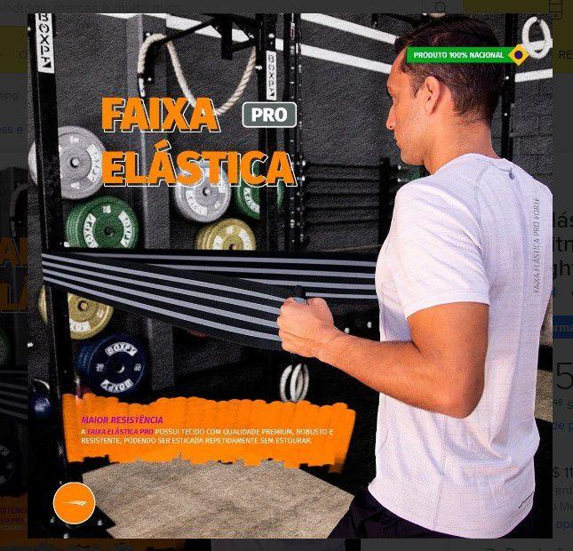 Faixa Elástica Forte Pro Hidrolight - Cinza  - REAL ESPORTE