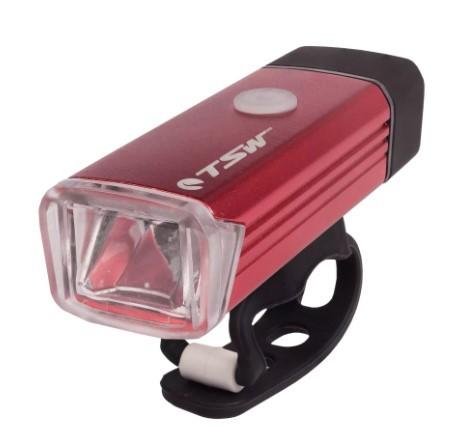 Farol c/ Carregador USB TSW - Vermelho  - REAL ESPORTE