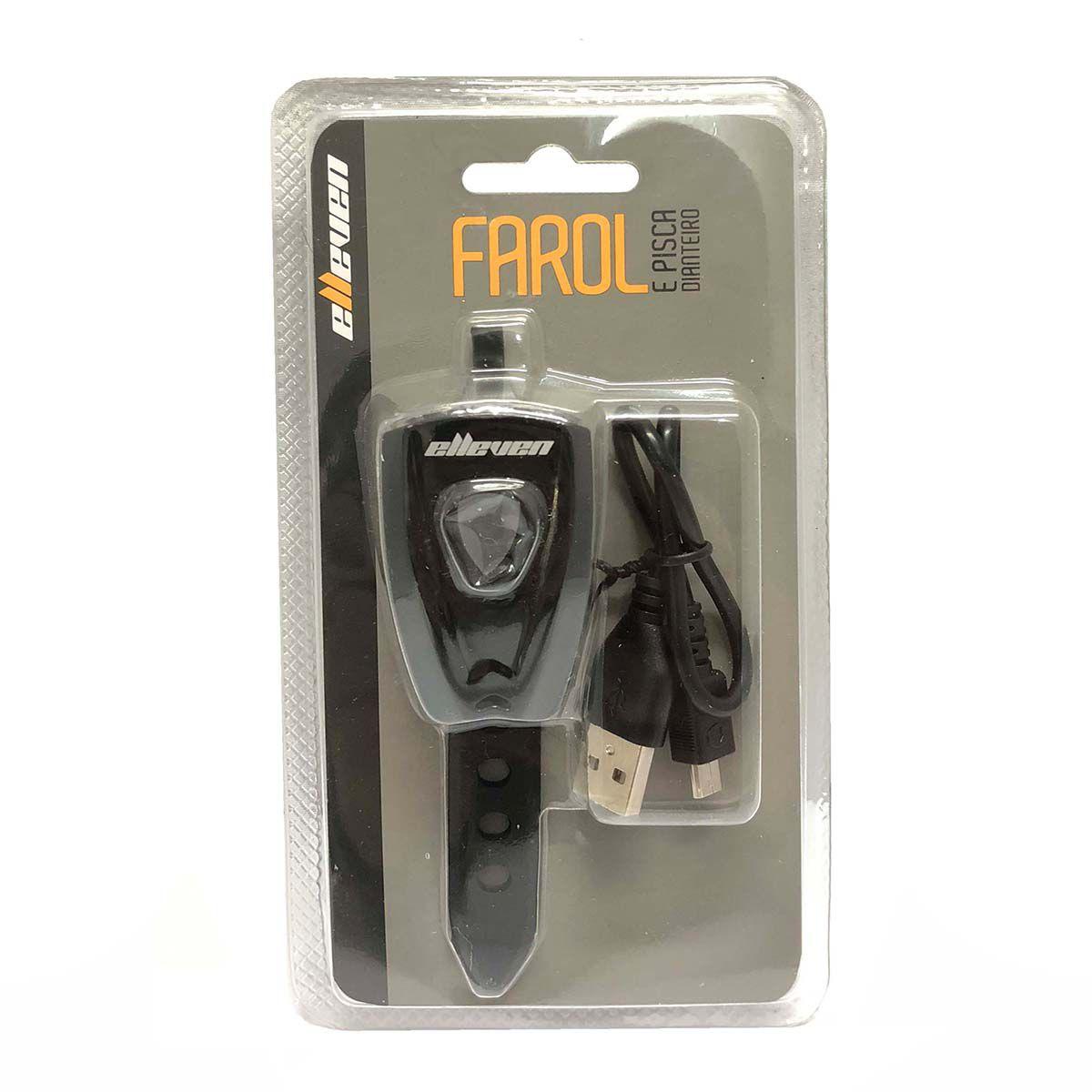 Farol /Pisca Bateria 2 Leds 0.5W   Recarregável Usb  - REAL ESPORTE