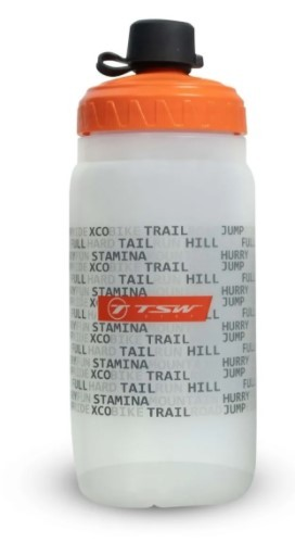 Garrafa TSW Pivot 560ml Nylon Branco/Laranja  - REAL ESPORTE