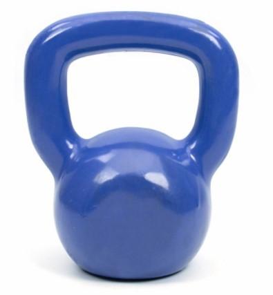 Kettlebell Emborrachado Fundido 6 kg - Azul  - REAL ESPORTE