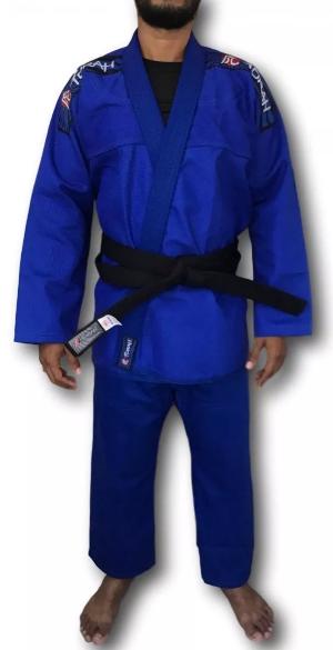 Kimono Torah Reforçado Flex Jiu Jitsu  A4 - Azul  - REAL ESPORTE