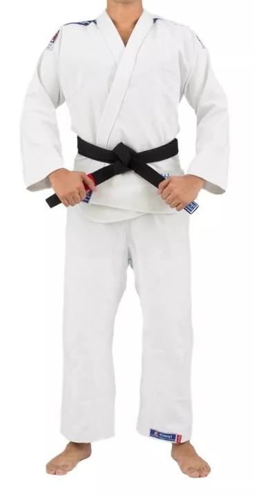 Kimono Torah Trançado Flex Jiu Jitsu   - Branco  - REAL ESPORTE