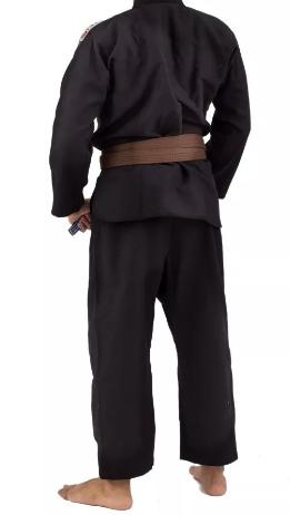 Kimono Torah Trançado Flex Jiu Jitsu - Preto  - REAL ESPORTE