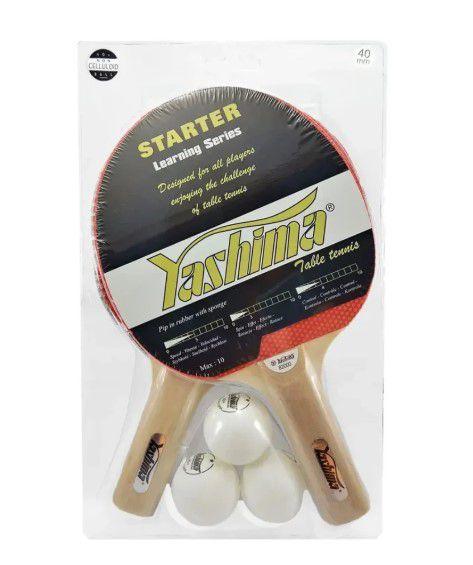 Kit Com 2 Raquete e 3 Bolinhas  Yashima - 82000  - REAL ESPORTE