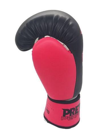 Kit Luva de Boxe Pretorian Performance  Preto e Rosa  + Bandagem + Protetor bucal   - REAL ESPORTE