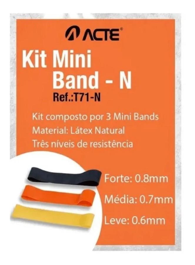 Kit Mini Band Faixas Elásticas Acte  - REAL ESPORTE