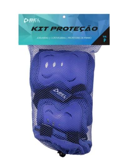 Kit Proteção Bel Sports Infantil - Azul  - REAL ESPORTE