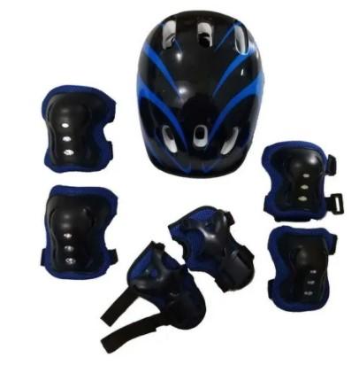 Kit Proteção Infantil TYT 48 ao 52 - Preto/Azul  - REAL ESPORTE