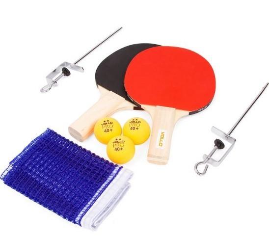 Kit Tênis de Mesa Com Rede Suporte 2 Raquetes +3 Bolinhas  - REAL ESPORTE