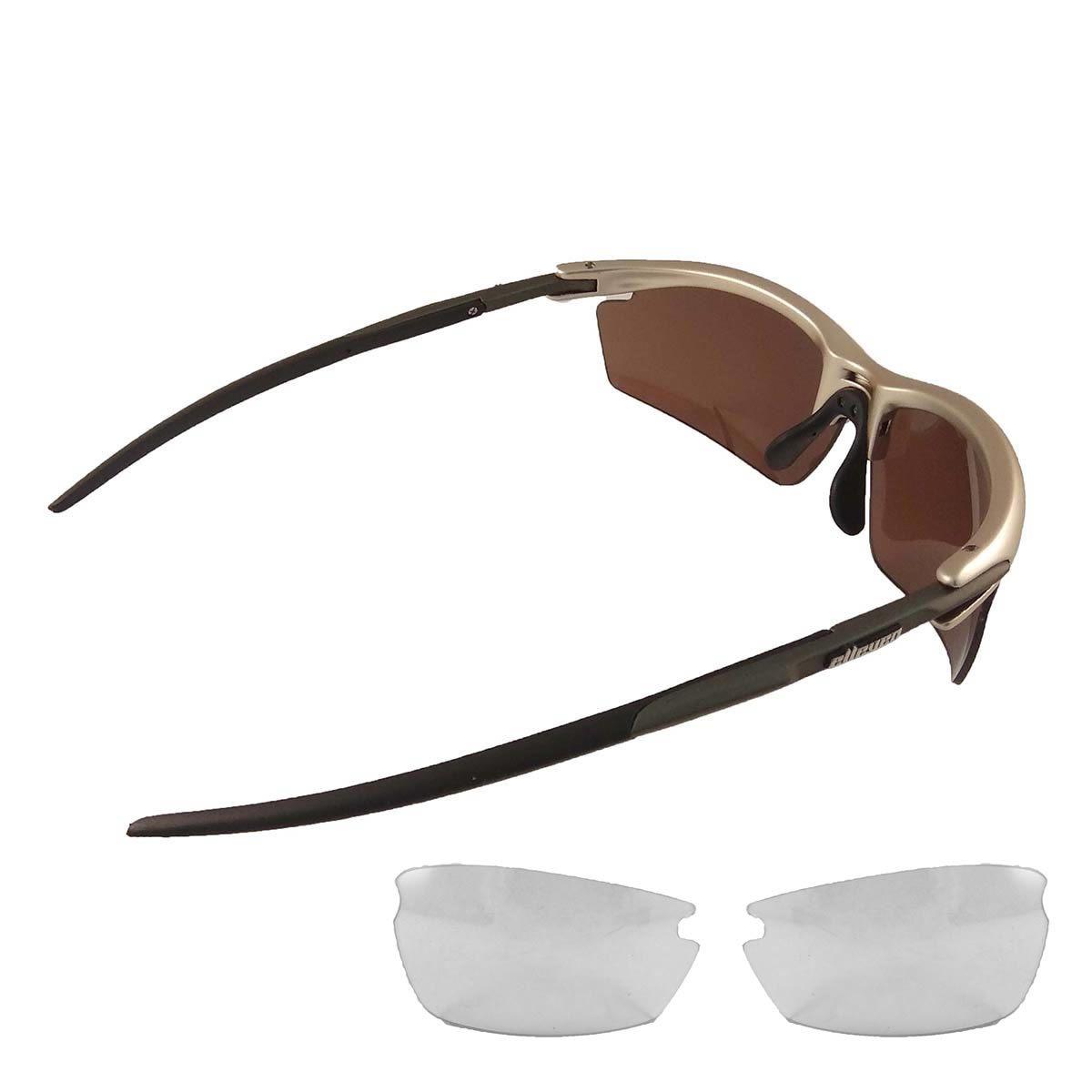 Óculos Ciclista  Blade Cinza /Preto C/Lentes Escuras  - REAL ESPORTE
