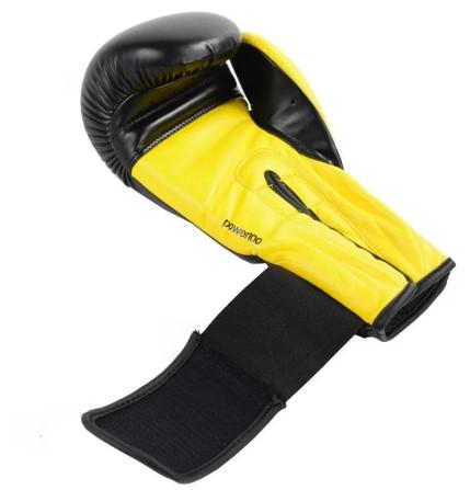 Luva de Boxe Adidas Power 100 - Preto/Amarelo  - REAL ESPORTE