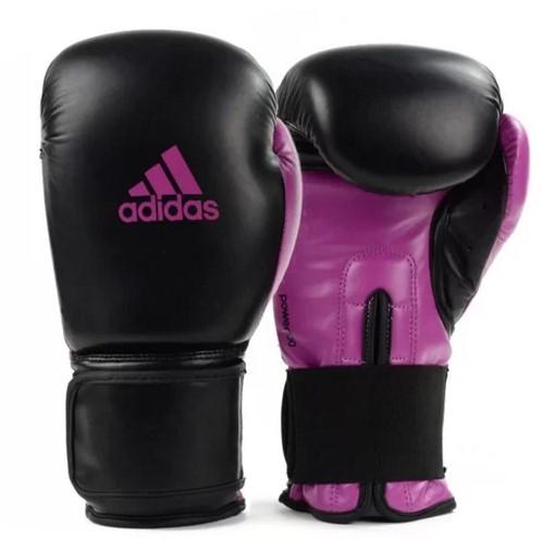 Luva de Boxe Adidas Power 100 - Preto/Roxo  - REAL ESPORTE