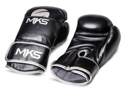 Luva de Boxe MKS Energy Preta/Cinza  - REAL ESPORTE