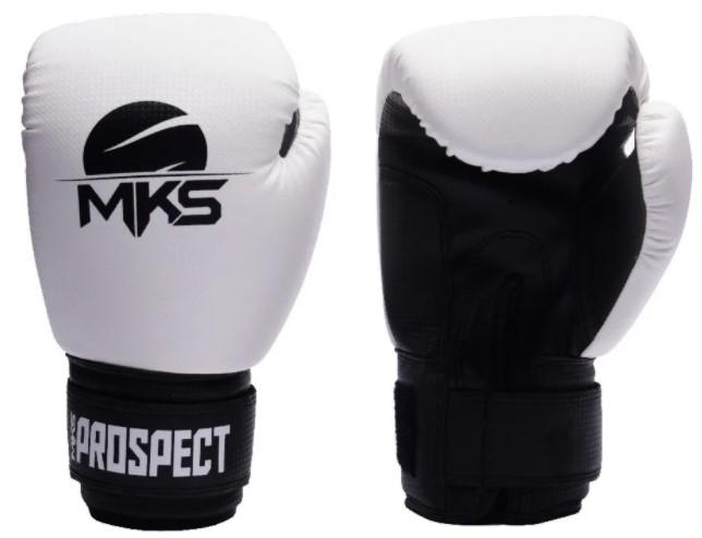 Kit Luva Boxe Thai Prospect Mks Branca + Bandagem + Protetor Bucal  - REAL ESPORTE
