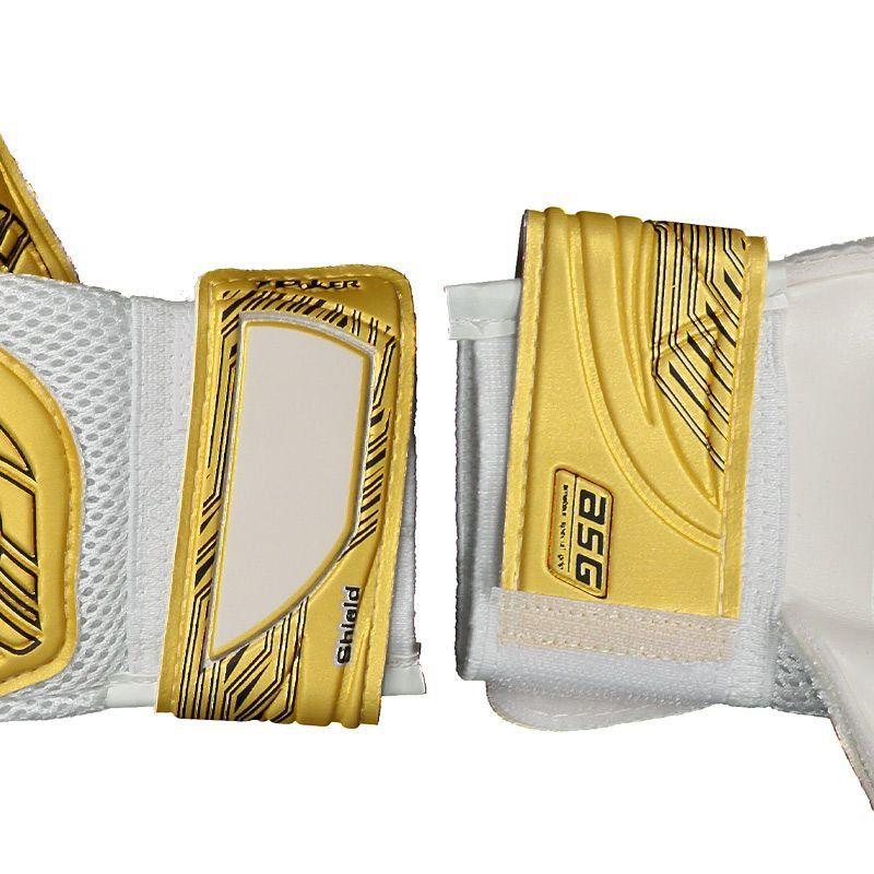 Luva de Goleiro Poker Shield Semi Profissional - Amarelo e Branco -Tam: 10  - REAL ESPORTE