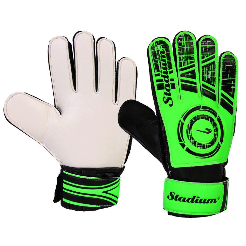 luva de goleiro Stadium Matrix Juvenil - Verde e Branco  - REAL ESPORTE