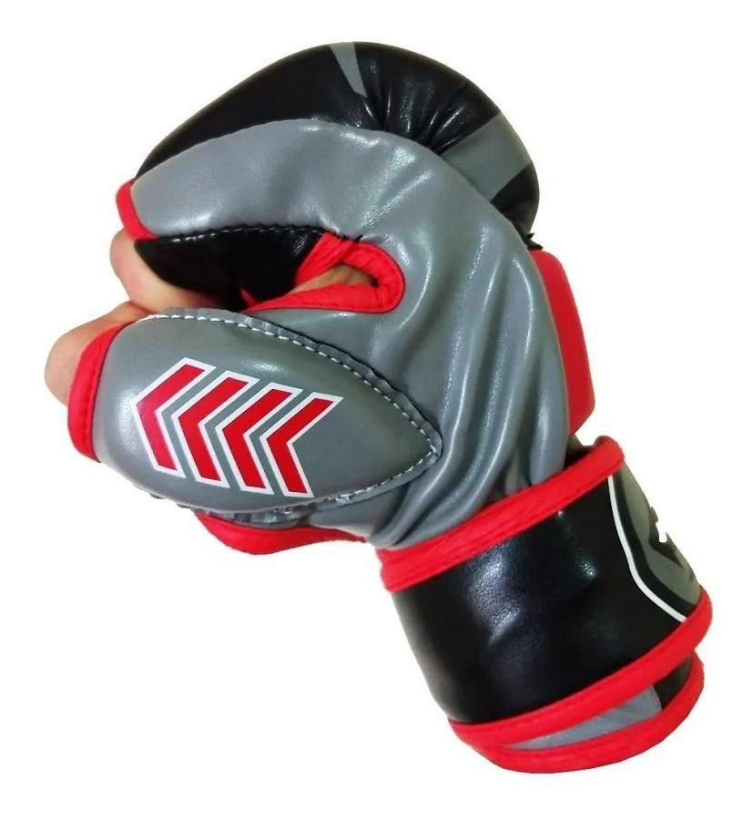 Luva de MMA Naja New Extreme preto e vermelho  - REAL ESPORTE