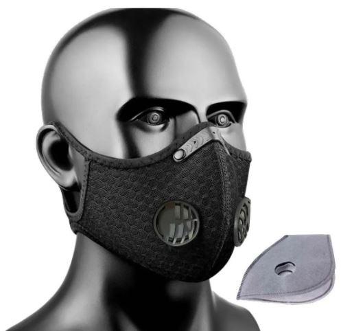 Mascara Proteçao Esportes Preta Com Filtro Lavavel Rockbros  - REAL ESPORTE