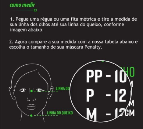 Máscara Treino Block Penalty - Preta/Azul  - REAL ESPORTE