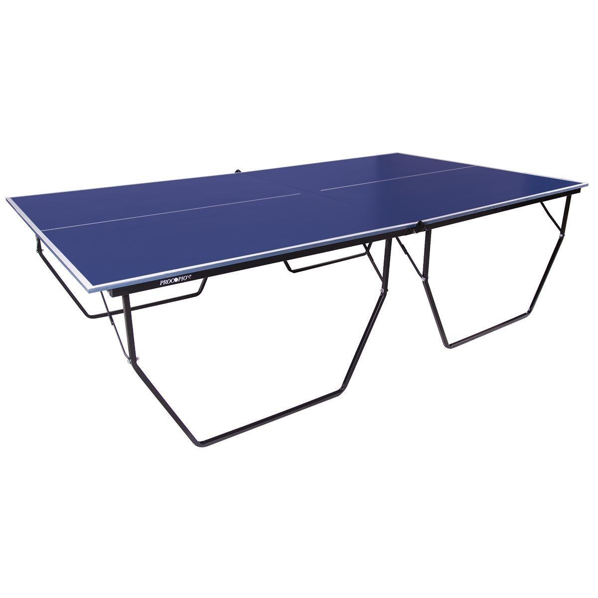 Mesa de Ping Pong / Tênis de Mesa Dobrável Oficial Procópio com Rodas MDP 15mm Rede e Suporte  - REAL ESPORTE