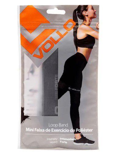 Mini Faixa De Exercício de Poliéster Forte  Vollo - Cinza   - REAL ESPORTE
