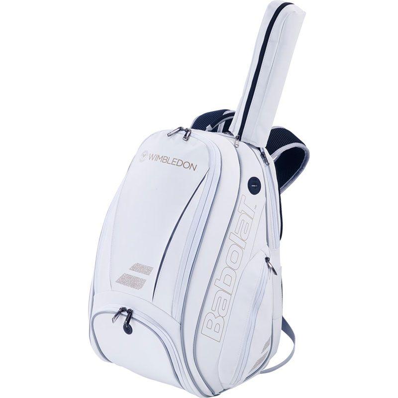 Mochila Babolat Backpack Pure Wimbledon  -Branco/Dourado  - REAL ESPORTE