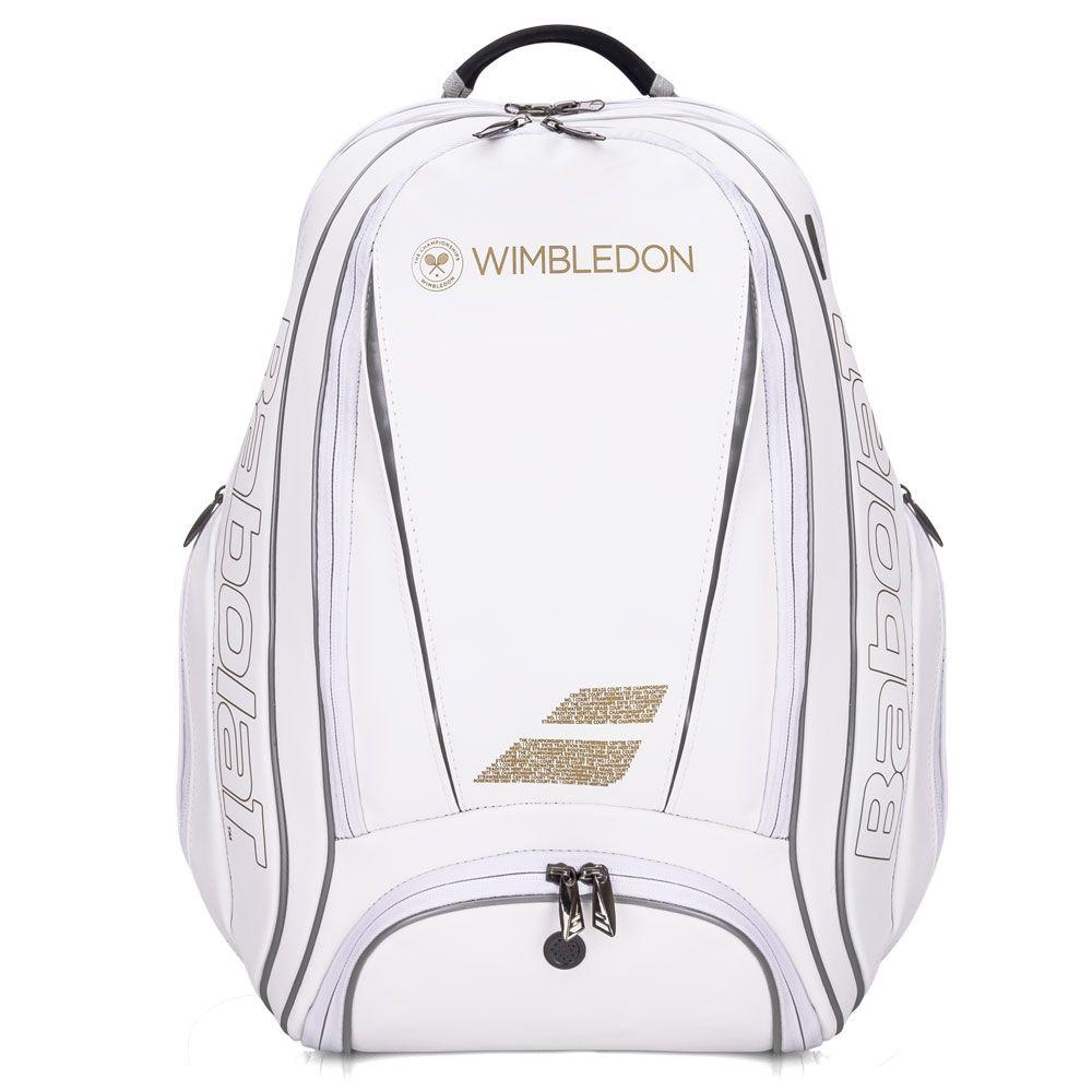 Mochila Babolat Pure Wimbledon -Branco e Dourado  - REAL ESPORTE