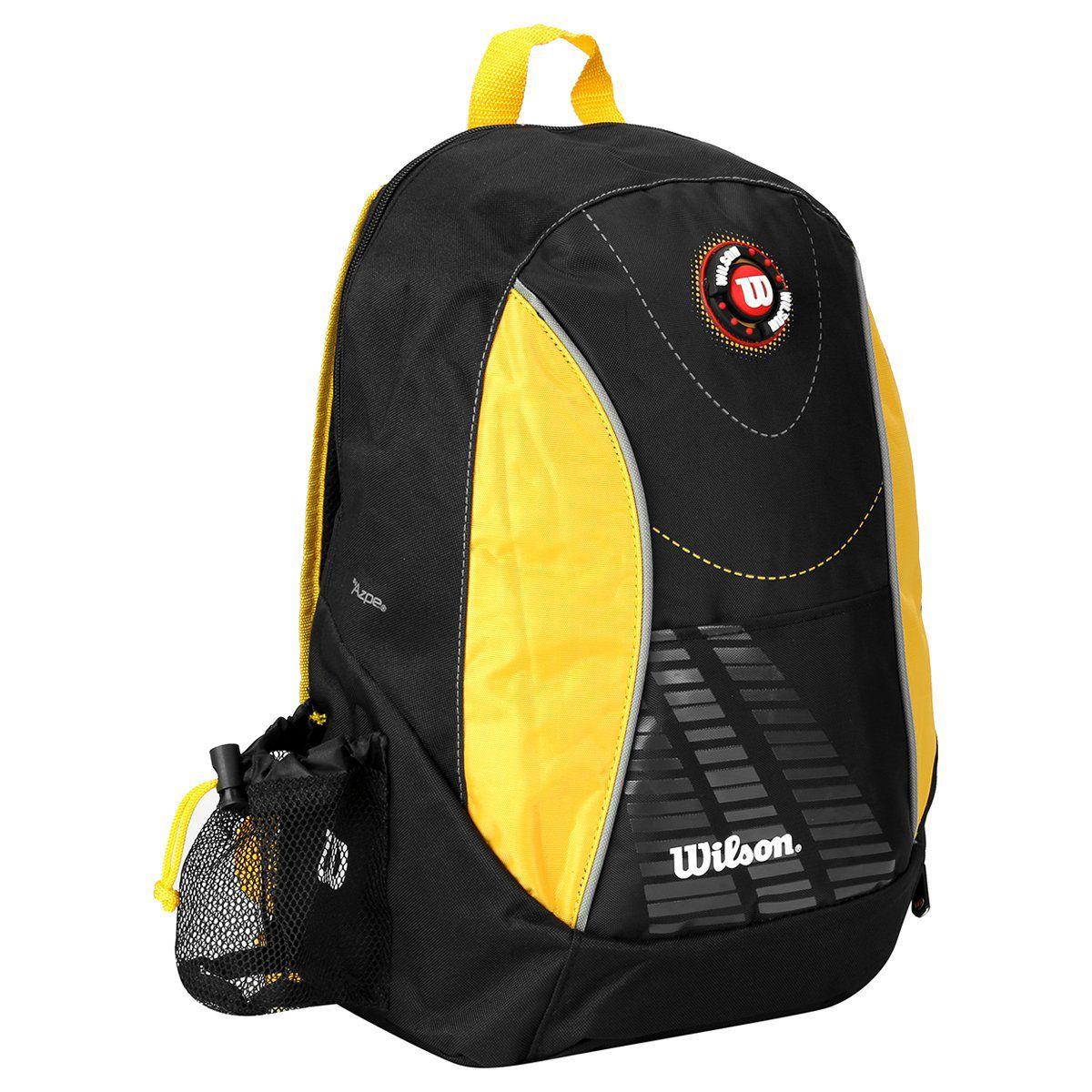 Mochila Wilson Esp WTIX12255D - Preto e Amarelo  - REAL ESPORTE